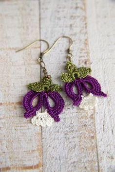 Sunshine Home Decor Crochet Earrings Pattern, Crochet Jewelry Patterns, Crochet Motifs, Form Crochet, Crochet Bracelet, Bead Crochet, Crochet Accessories, Crochet Designs, Crochet Crafts