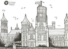 Urban Sketchers DC - Smithsonian+Institution.jpg (1600×1163)