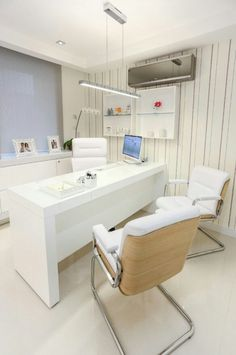 20 Home Office Designs for Small Spaces Medical Office Interior, Medical Office Design, Healthcare Design, Home Office Design, Office Designs, Small Space Office, Small Spaces, Ideas De Boutique, Clinic Interior Design