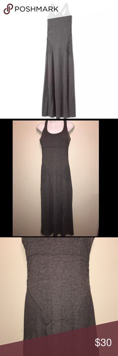 """Athleta Twist & Turn Gray Maxi Dress #406085 Bra top  Size Small  No stains/holes/odors  14 inches under the bust, along the seam 54"""" Inches long   All my items are from a non smoking/pet free home. Athleta Dresses Maxi"""