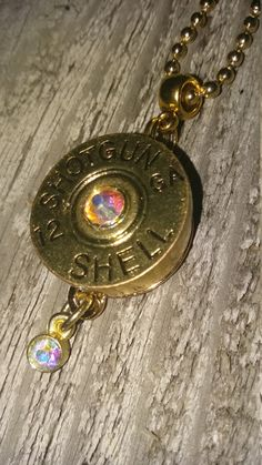 Ball chain necklace with shotgun shell snap charm...shooting hunting jewelry by CamoAndAmmoBoutique on Etsy