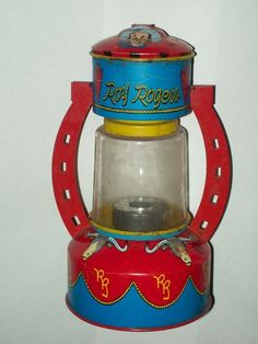 Vintage Roy Rogers Horseshoe Tin Toy Lantern Cowboy Bull RARE Antique | eBay