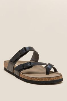 73c3e36ed83 Madden Girl Brycee Strappy Footbed Sandal Flat Sandals