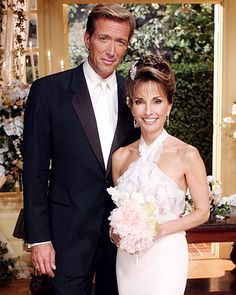 "All My Children's Erica Kane Although she spurned him years earlier, Erica Kane (Susan Lucci) finally said ""I do"" to Jackson Montgomery (Walt Willey) in 2005. For this marriage, Kane went simple in a satin halter-neck gown accessorized with serious diamonds."