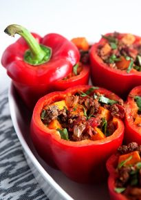 Whole30 Stuffed Peppers with Chipotle Sauce - Some the Wiser