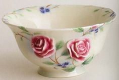 franz porcelain english garden rose bowl