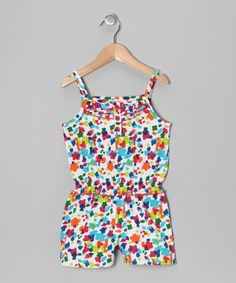 Take a look at this Rainbow Paint Drop Romper - Toddler & Girls on zulily today!