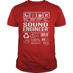 Awesome Tee Shirt Sound Engineer T-Shirts, Hoodies. BUY IT NOW ==► https://www.sunfrog.com/LifeStyle/Awesome-Tee-Shirt-Sound-Engineer-Red-Guys.html?id=41382