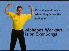Jack Hartmann exercise song writing the uppercase alphabet.