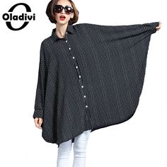 Large Big Sizes 10XL 9XL 8XL 7XL 6XL 5XL 4XL Striped Loose Blouse 2017 Fashion Women Casual Shirt Tops Tunics Plus Size Clothing