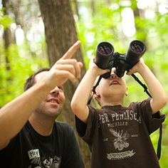 Learn about wildlife with your child at a nature preserve.