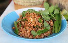 Thai larb recipe (larb moo ลาบหมู) - Minced Pork Salad