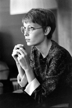 Mia Farrow 1967 - October 05 2019 at Little Girl Hairstyles, Pixie Hairstyles, Pixie Haircut, Trendy Hairstyles, Mia Farrow Pixie, Short Hair Cuts, Short Hair Styles, Pelo Vintage, Young Actresses