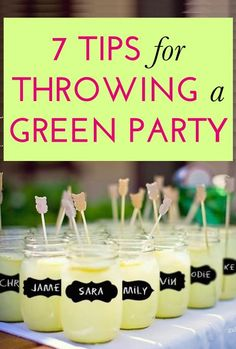 7 tips for throwing a green, eco-friendly party. One clever tip: Decorate with biodegradable balloons! Eco Friendly Cleaning Products, No Waste, Party Cups, Sustainable Living, Sustainable Ideas, Birthday Decorations, Green Party Decorations, Biodegradable Products, Party Planning