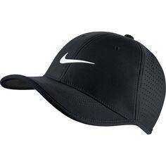 Nike Golf Junior Ultralight Perforated Adjustable Hat BlackWhite -- Click image for more details.