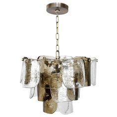 Murano Glass Chandelier - Mazzega   From a unique collection of antique and modern chandeliers and pendants  at http://www.1stdibs.com/furniture/lighting/chandeliers-pendant-lights/