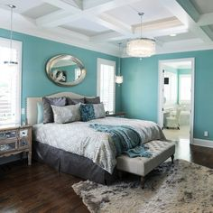 Spicing it Up || Bedroom ceiling ideas and designs (image by Houzz) nice color for your room...it would look very nice.
