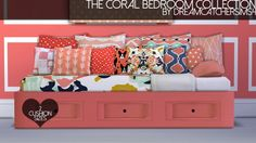 The Coral Bedroom Collection at DreamCatcherSims4 via Sims 4 Updates