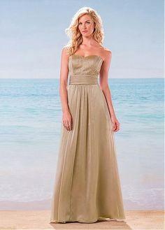 66ec6d5338 Magbridal Elegant Silk-like Chiffon Sweetheart Neckline A-Line Bridesmaid  Dresses With Beads
