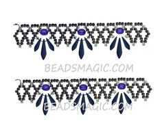 Free pattern for necklace Raven | Beads Magic