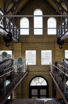 Eastney Beam Engine House.. Engine House, Portsmouth, Beams, England, English, British, United Kingdom, Exposed Beams