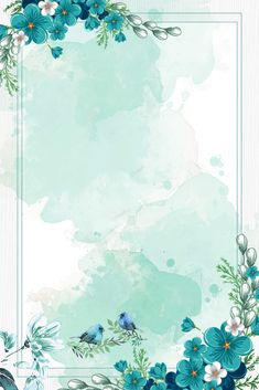 chinese style watercolor blue flowers border background vector Wedding Flower Tips Flowers are symbo Flower Background Wallpaper, Framed Wallpaper, Cute Wallpaper Backgrounds, Pretty Wallpapers, Flower Backgrounds, Pastel Background, Chinese Background, Vector Background, Background Flores