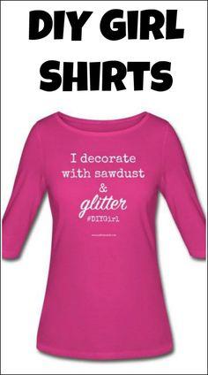 sawdust glitter shirt DIY girl  c5ec5830cc2c8