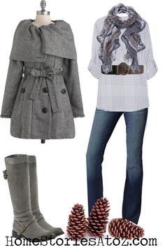 I would pair this with my bearpaw boots, I probably wouldn't wear the ones in the picture