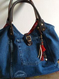 Balenciaga City Bag, Denim Jeans, Pouch, Shoulder Bag, Purses, Elephant, Sewing, Bags, Handicraft