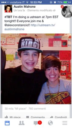 Alex Costancio and Austin Mahone