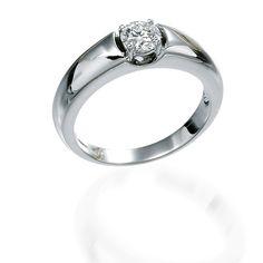 Prsten od belog zlata sa brilijantom 0.42ct SI/G
