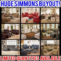 Check out our Featured Friday post on our huge #Simmons buyout - tons of great furniture for incredibly low prices, including items from the BeautyRest line! Each store has its own unique assortment of furniture - no special orders. #furniture #livingroom #homedecor