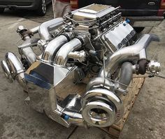 This What 4000 H.P Look Like Built By: bigsexy heavyweight bedifferent bbc chevy turbo twins dragrace highmaintenance bigblockchevy Ls Engine, Motor Engine, Custom Muscle Cars, Custom Cars, Stance Nation, Jdm, Nissan, Chevy Motors, Volkswagen