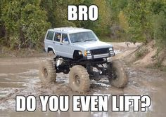 High lifted Jeep