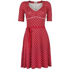 """""""Vive Maria"""" - """"It's Swingtime Dress"""" Jurk met subtiele plooien in de borst en een onderrok van 100% polyester. De lengte is ca. 96 cm."""