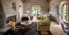 No one can say New York designer Lucien Rees Roberts doesn't look out for his friends. He and architect Steven Harris—Interior Design Hall of Fam. Interior Design Magazine, Old Stone Houses, Tuscan Style, Design Case, Interior And Exterior, House Plans, New Homes, Building A House, 15th Century