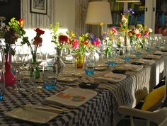 flowery table styling