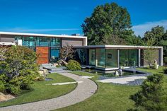 Contemporary residence located in Chesapeake Bay, United States, designed in 2017 by ZEN Associates. Building A Porch, Building A House, Modern House Design, Home Design, Interior Design, Urban Design, Contemporary Landscape, Landscape Design, Desert Landscape