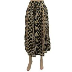 Womens Hippie Boho Cotton Long Skirt Black Cream Floral Printed Skirts India (Apparel) http://www.amazon.com/dp/B007O6CMOA/?tag=httpzachlagco-20 B007O6CMOA