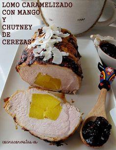 COCINA CON VISTAS: Lomo Caramelizado con Mango Y Chutney de Cerezas