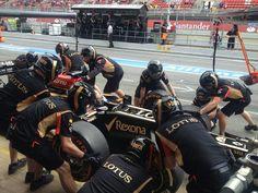 Pitstop for Kimi - 2013 Spanish GP FP3