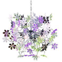 Lámpara Colgante de Techo Flores de Colores #lamparacolgante #lamparadetecho #decoracion #decoraciondelhogar  #lamparas #iluminacion #diseño #vintage #interiores #hogar