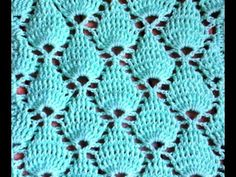 Crochet : Point feuille en relief. Crochet punto fantasia