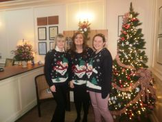 Matching festive jumpers! From Marketing & Reception!