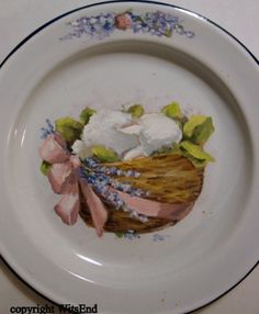 """""""Lavender Dreams"""", original painting on vintage enamelware dish, by me! SOLD"""