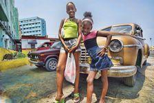 Havana Girls with classic car - Jay Dorfman