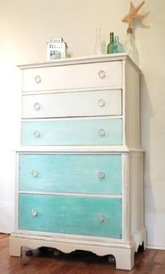 Paint A Dresser Blue  8 Makeovers With A Beach Vibe