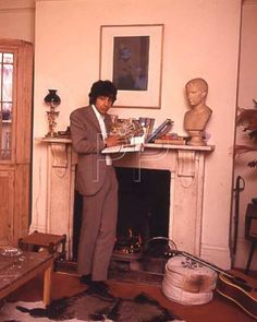 Cat in his London flat in January 1967.