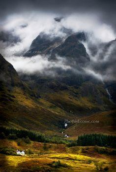 Blaven in a malevolent mood. Loch Slapin. Isle of Skye, Scotland; photo by Barbara R. Jones