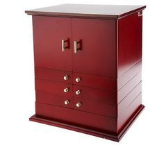 Gold Silver Safekeeper Double Sided Jewelry Armoire by Lori